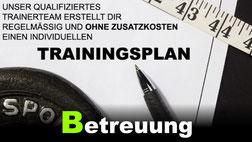 Beispiel Trainingsplan und Betreuung im Fitnesscenter GYM Fürth