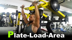 Hammerstrength Training in der Plate-Load-Area