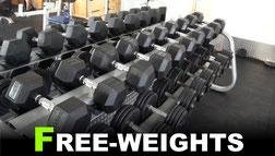 Kurzhanteln bis 60kg im Fitnessstudio GYM