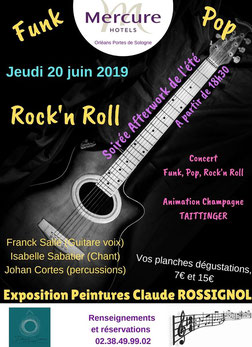 Expo-concert avec Isabelle Sabatier Trio - Mercure Orléans Portes de Sologne juin 2019