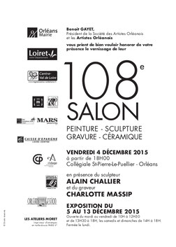 Claude Rossignol - Affiche 108è Salon des Artistes Orléanais 2015