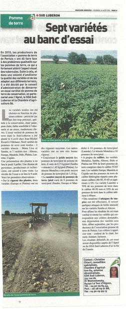 Vaucluse agricole 24 août 2012