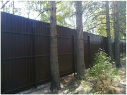 Забор из профнастила в  Дедовске