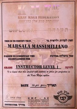 istruttore 1° livello kmf massimiliano marsala
