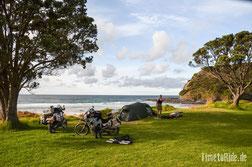 Neuseeland - Motorrad - Reise - Camping am Cape Reinga