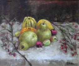 秋の果物 ( 油彩・F8 )
