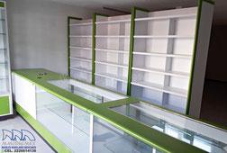 Muebles para farmacia, estantes para farmacia