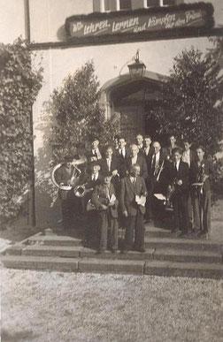 Bild: Blaskapelle Wünschendorf 1952
