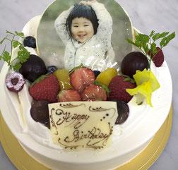 本格的な味の写真ケーキ