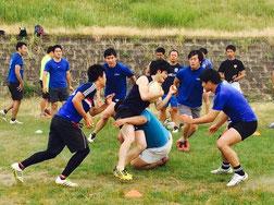 名古屋市内ホームグラウンドでのラグビー練習①