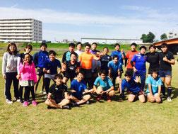 名古屋市内ホームグラウンドでのラグビー練習③