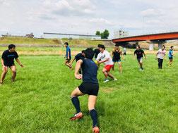 名古屋市内ホームグラウンドでのラグビー練習②