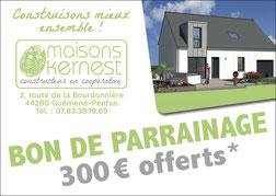 Bon de parrainage de 300 euros offerts pour toute recommandation conclue par une vente