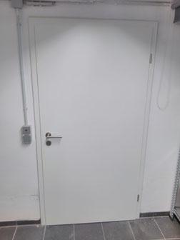 5 Türen CPL in weiß eingebaut