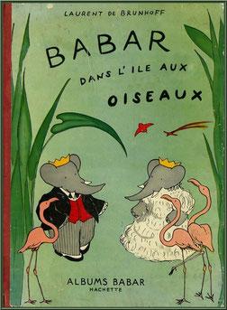 """Couverture de la BD originale de 1951 """"Babard dans l'Ile aux Oiseaux"""""""