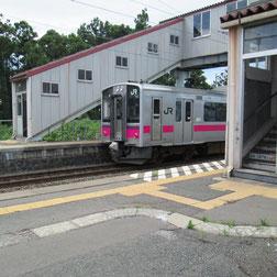 奥内駅 蟹田行きの電車