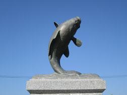 7:47 佐久市と言えば銅像も「鯉」