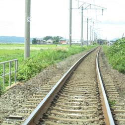 三厩に続く津軽鉄道