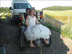 Hochzeitsfahrt mit dem Husky-Gespann