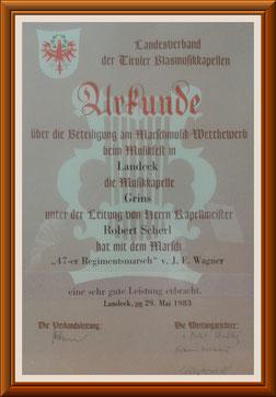 MK-Grins, Marschmusik-Bewertung 1983