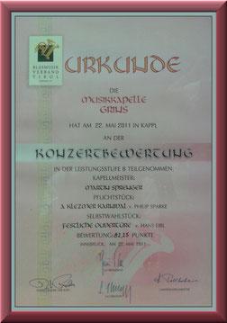 MK-Grins, Konzertmusik-Bewertung 2011