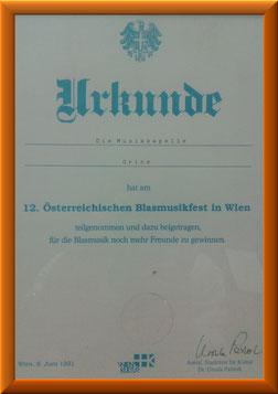 Teilnahme am 12. Österreichischen Blasmusikfest in Wien
