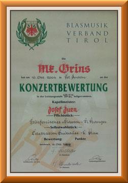 MK-Grins, Konzertmusik-Bewertung 2004