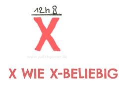 X wie X-beliebig - DAS KLEINE ABC DER SELBSTREFLEXION MEHR ALS 70 FRAGEN FÜR DEIN NOTIZBUCH, BULLET JOURNAL ODER TAGEBUCH von judith ganter illustriertes kopfkino für alltagsoptimisten
