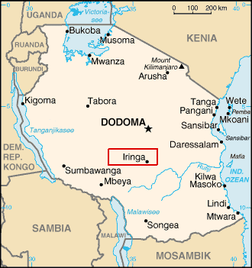 """Iringa"". Lizenziert unter Public domain über Wikimedia Commons - http://commons.wikimedia.org/wiki/File:Iringa.png#mediaviewer/File:Iringa.png"