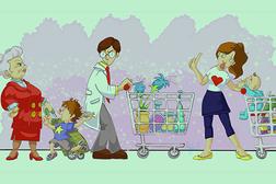 In coda al supermercato