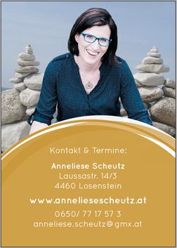Folder Rückseite, Anneliese Scheutz