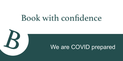 Book with confidence - We are COVID prpared