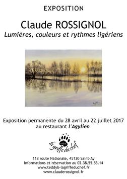 Claude Rossignol - Affiche Expo restau l'Agylien 2017