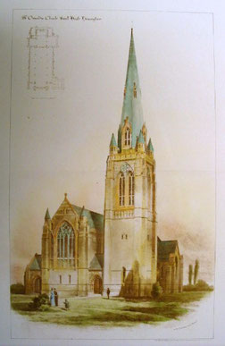 W H Bidlake's original plan for St Oswald's