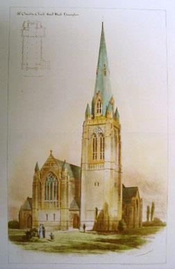 W H Bidlake's original plan for St Oswald's