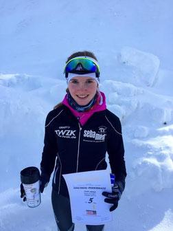 Gina-Marie Puderbach nach Ihrem 5. Platz beim Sprint in Oberhof