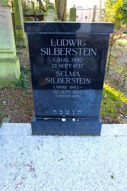 Das Grab des Ludwig Silberstein im Schweinfurter Hauptfriedhof