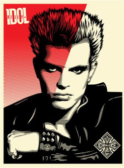 Shepard Fairey Billy Idol