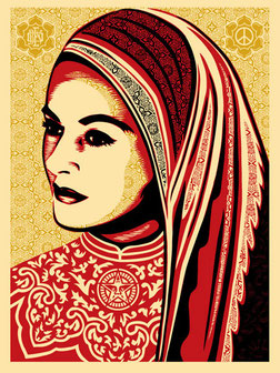 Shepatd Fairey Peace Woman