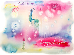 Happiness, Joy, Lieblingsbild, Aquarell, Kunst, watercolour, intuitives malen