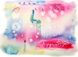 Happiness, Joy, Lieblingsbild, Aquarell, Kunst, watercolour, intuitives malen