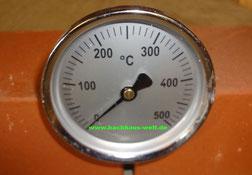 Thermometer für Holzbackofen, Pizzaofen, Backhaus, Steinbackofen