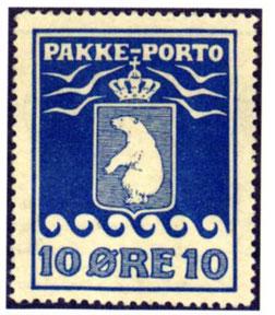 Briefmarke der dänischen Postverwaltung für Grönland, 1903