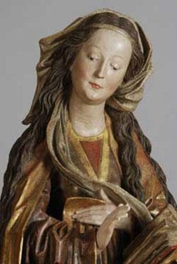 Vierge d'annonciation (1280-1490) polychrome