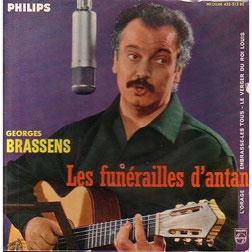 Pochette du disque Les funérailles d'antan par Georges Brassens