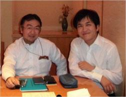※右がZMP社の谷口社長、左がわたし。10月上旬、二子玉川での楽しい夕食のひとときです。