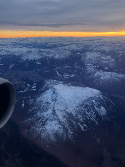 Almost back home, flying over the Alps here.