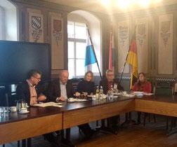 von links: Bgm. Martin Birner, Josef Schönhammer, Charlotte von Schelling, Hans Fischer, Rosa Schafbauer