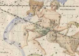 Stich des Sternbildes Wassermann
