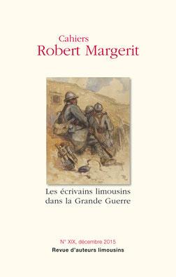 Première de couverture Cahier Robert Margerit n°XIX décembre 2015
